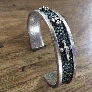 Alan K Silver Cuff Bracelet